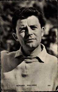 Ak Schauspieler Gerard Philippe, Portrait