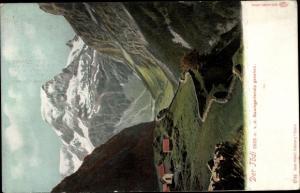 Ak Baumgartenalm Salzburg, Blick auf den Tödi, Bergpanorama