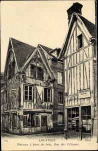Ak Louviers Eure, Maisons a pans de bois, Rue des Pelicans