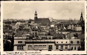 Ak Opava Troppau Region Mährisch Schlesien, Gesamtansicht, Minoritenturm