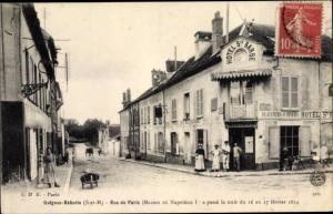Ak Guignes Rabutin Seine et Marne, Rue de Paris