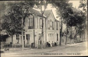 Ak Combs la Ville Seine et Marne, Avenue de la Gare