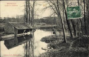Ak Augerville Loiret, Lavoir sur l'Essonne