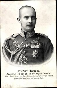 Ak Großherzog Friedrich Franz IV. von Mecklenburg Schwerin