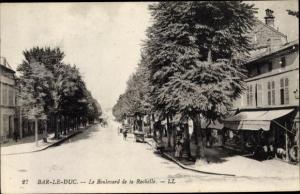 Ak Bar Le Duc Lothringen Meuse, Boulevard de la Rochelle