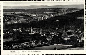 Ak Wałbrzych Waldenburg Schlesien, Panorama mit Schillerbaude, Inh. P. Franke