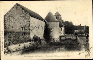 Ak Beaumont-Gatinais Seine et Marne, Fosses du Chateau, vus du Parc