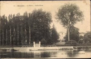 Ak Boissettes Seine et Marne, La Seine, Belles Rives