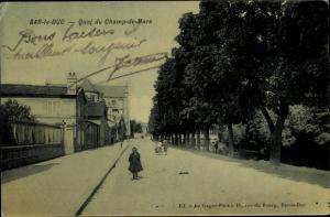 Ak Bar Le Duc Lothringen Meuse, Quai du Champ de Mars