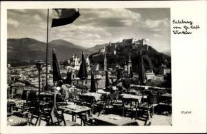 Ak Salzburg in Österreich, Großes Cafe Winkler, Terrassenpartie