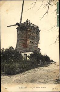 Ak Sannois Val d'Oise, Le plus Vieux Moulin
