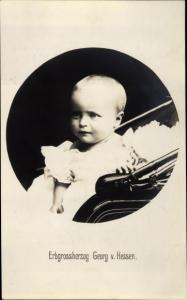 Ak Erbprinz Georg von Hessen, Kinderportrait, Kinderwagen