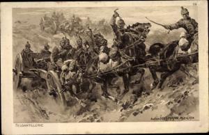 Künstler Ak Hoffmann, Anton, Feldartillerie, Das deutsche Heer, Ostpreußenhilfe 1914/15