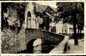 Ak Bad Münstereifel in Nordrhein Westfalen, Burgbrücke