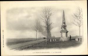 Ak La Ferté Gaucher Seine et Marne, La Colonne, allée
