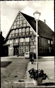Ak Lütjenburg in Schleswig Holstein, Altes Fachwerkhaus
