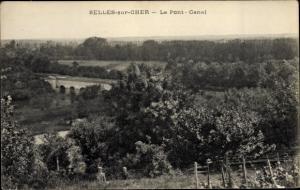 Ak Selles sur Cher Loir et Cher, Le Pont Canal
