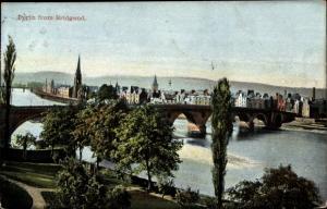 Ak Perth Perthshire Schottland, Perth from Bridgend