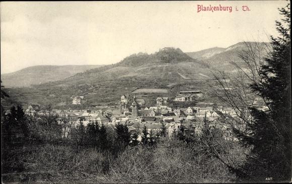 Ak Bad Blankenburg Schwarzatal in Thüringen, Panorama 0