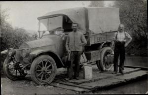 Foto Ak Auto Transporter EKK14, XI 1560, Flussüberquerung