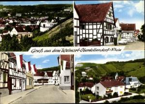 Ak Oberdollendorf Dollendorf Königswinter am Rhein, Straßenpartie, Wohnhäuser
