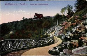 Ak Wałbrzych Waldenburg Schlesien, Partie mit Schillerbaude