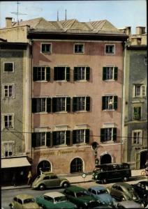 Ak Salzburg in Österreich, Hotel Goldener Hirsch