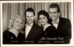 Ak Gesangsgruppe Die Singende Vier, Ilse Hass, Herbert Klein, Sonja Siewert, Werner Hass