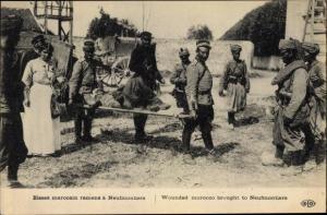 Ak Chauconin-Neufmontiers Seine et Marne, Blessé marocain, französische Kolonialkrieger
