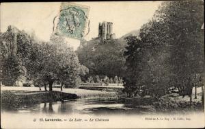 Ak Lavardin Loir et Cher, Le Loir, Le Chateau