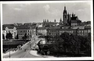 Ak Hradec Králové Königgrätz Stadt, Stadtpartie