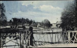 Ak Strausberg in Brandenburg, Schlagmühle, Brückenpartie