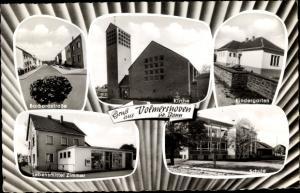Ak Volmershoven Alfter Nordrhein Westfalen, Kindergarten, Schule, Kirche, Lebensmittel Zimmer