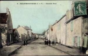 Ak Chauconin-Neufmontiers Seine et Marne, Grande Rue