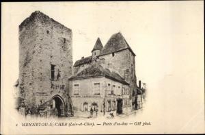 Ak Mennetou sur Cher Loir et Cher, Porte d'en bas