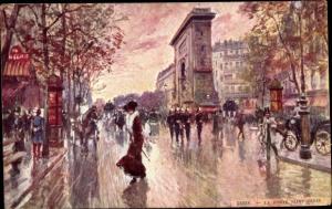 Künstler Ak Paris Frankreich, La Porte Saint Denis