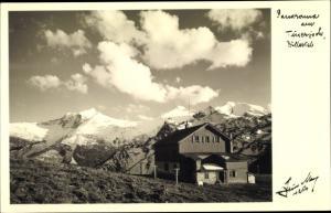 Ak Tuxerjoch im Zillertal Tirol, Tuxerjochhaus