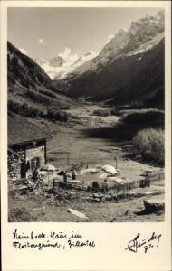 Ak Ginzling in Tirol, Zillertal, Steinbockhaus im Floitengrund