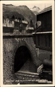 Ak Zederhaus Salzburg, Südportal des Tauerntunnel mit Ankogel