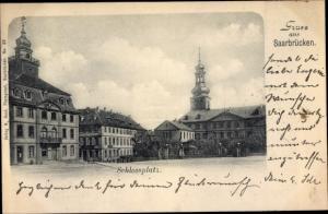 Ak Saarbrücken im Saarland, Schlossplatz
