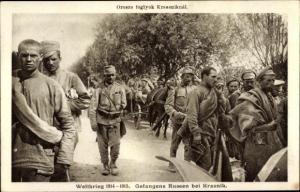 Ak Kraśnik Polen, Russische Kriegsgefangene, Weltkrieg 1914-15