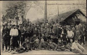 Ak Schwäbisch Gmünd, Prisonniers francais, Französische Kriegsgefangene, deutsche Soldaten
