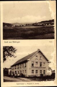 Ak Büdingen Nistertal Rheinland-Pfalz, Totale, Gasthof und Metzgerei