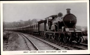 Ak Britische Eisenbahn, Great Eastern Railway, Restaurant Car Train 2027