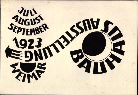 Künstler Ak Hirschfeld Mack, Ludwig, Weimar in Thüringen, Staatliches Bauhaus, Ausstellung 1923 0
