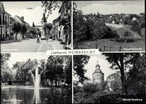 Ak Nümbrecht im Oberbergischen Kreis, Haus am Weiher, Schloss Homburg, Hauptstraße, Gesamt