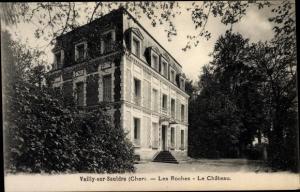 Ak Vailly sur Sauldre Cher, Les Roches, Le Chateau