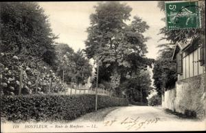 Ak Honfleur Calvados, Route de Honfleur