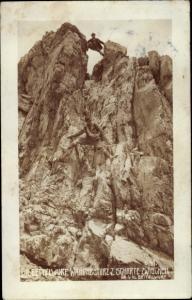 Ak Bergsteiger, Großer Bettelwurf, Wandabsturz z. Scharte zwischen gr. u. kl. Bettelwurf