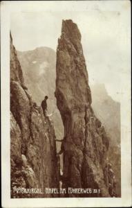 Ak Bergsteiger, Todtenkirchl, Nadel am Führerweg